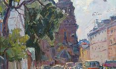 Александр Семёнов.  Ленинградская тема. Х.м.,60х50. 1974