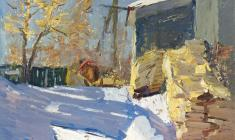 Александр Семёнов. Полдень. Карт.м.,69,5х49,5.,1971