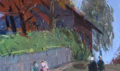 Арсений Семёнов. Осенний этюд. Карт.м.,69х59,5. 1959