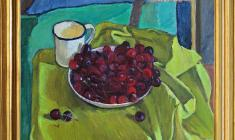 Геворк Котьянц (1906-1996). Х.м., Черешня. 40 x 44.1970. Цена по запросу. Gevork Kotiantz. Cherry. Oil on canvas. Price on request.  克瓦洛克 卡金茨