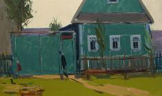 Арсений Семёнов. Зелёный дом. Карт.м.,35х50. 1963