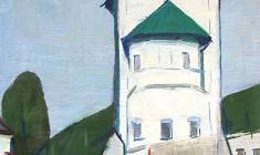 Арсений Семёнов. В древнем Пскове. Х.м.,64х51. 1968