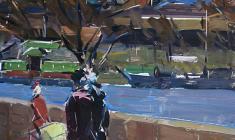 Арсений Семёнов. Ленинградская тема. Карт.,м.,68,5х49,5. 1962