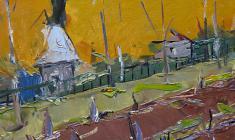 Арсений Семёнов.  Осень. Карт.м.,35х49,4. 1959