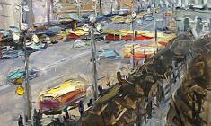 Арсений Семёнов. Невский проспект. Карт.м.,49х34,8. 1957