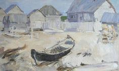 В.Тюленев. Северный остров. Карт.м., 50х70. 1962