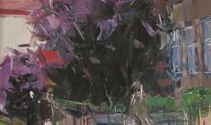 Арсений Семёнов. Псковский дворик. Карт.м.,48х33,4. 1962
