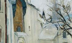 Арсений Семёнов.  Собор Святой Софии в Новгороде. Х.м.,60,5х60,8.,1966