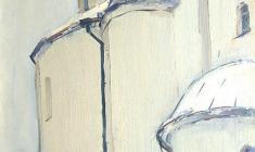 Арсений Семёнов. Собор Святой Софии в Новгороде. Х,м.,68,5х48,5. 1966