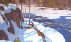 Николай Галахов. Весна в Карелии. Х.м.,80х100. 1999