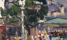 Арсений Семёнов. Улица в Ялте. Карт.м.,49х35. 1959