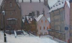 Арсений Семёнов. Таллин. Х.м.,49х68. 1966
