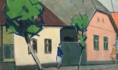 Арсений Семёнов. Западноукраинская тема. Х.м., 50х61. 1974
