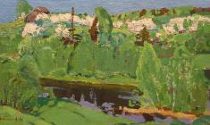 Н. Тимков. Весна  Карт.м.,  25х44. 1967