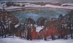 Н. Тимков. Поздняя осень.  Карт.м.,  83х142. 1968