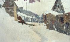 Н. Тимков. Старая Ладога. Карт.м., 51,5х73. 1963